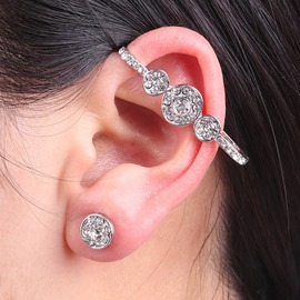 Ericdress Fully Jewelled Ear Cuff Set for Women