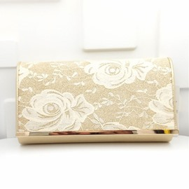 Ericdress Graceful Lace Surface Evening Clutch
