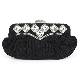 Ericdress Pleated Rhinestone Adornment Evening Clutch