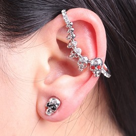 Ericdress Punk Style Skull Allergy Free Women's Ear Cuff
