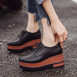 Ericdress All Match Platform Lace-Up Women's Sneakers