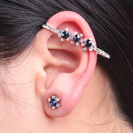 Ericdress Best Seller Blue Sapphire Inlay Women's Ear Cuff