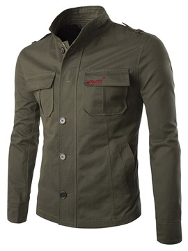 Ericdress Plain Single-Breasted Casual Slim Men's Jacket