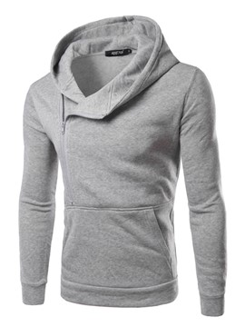 Ericdress Hooded Solid Color Slim Men's Hoodie