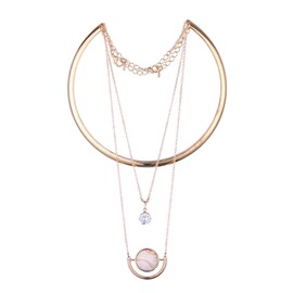 Accshine Popular Multilayer Zircon Pendant Necklace