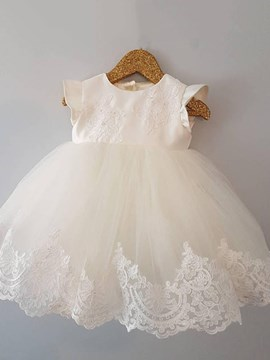 Ericdress Jewel A Line Tulle Applqiues Christening Gown