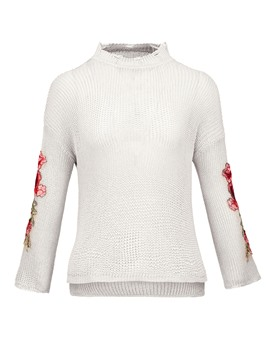 Ericdress Thin Floral Embroideried Pullover Sweater