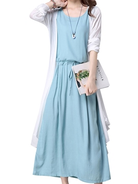 Ericdress Trench Coat and Dress Women's Suit
