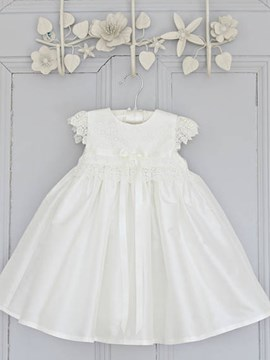 Ericdress Jewel Cap Sleeves Appliques A Line Christening Gown