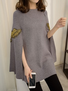 Ericdress Loose Embroidery Korean Style Cape