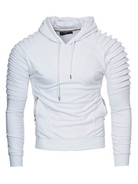 Ericdress Solid Color Pullover Vogue Slim Men's Hoodie