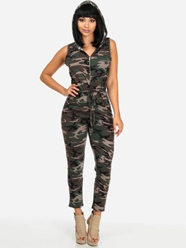 Ericdress Camouflage Slim Women's Jumpsuit
