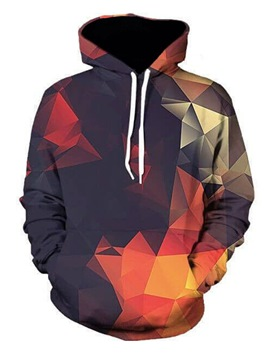 Ericdress Hooded Print Loose Men's Pullover Hoodie
