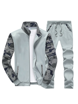 Ericdress Camouflage Print Patchwork Men's Sports Suit