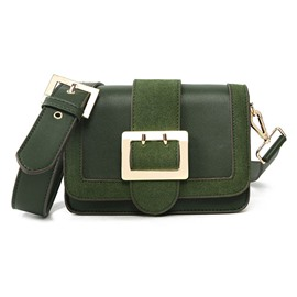 Ericdress Retro Belt-Decorated PU Crossbody Bag