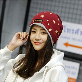 Ericdress European Style Gold Stamping Star Printed Women's Hat