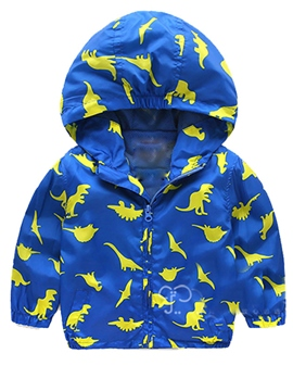 Ericdress Windproof Animal Pattern Zipper Hooded Baby Boys Jacket