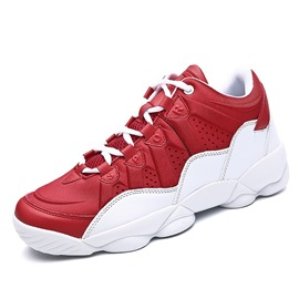 Ericdress All Match Color Block Lace-Up Men's Athletic Shoes