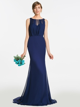 Ericdress Bateau Mermaid Long Bridesmaid Dress