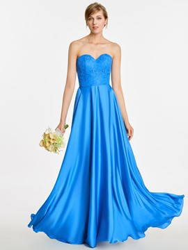 Ericdress Sweetheart Appliques A Line Long Bridesmaid Dress
