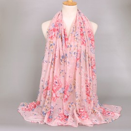 Ericdress Voile Flower Printed Women's Scarf