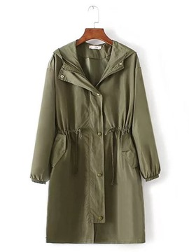 Ericdress lose plain plus-size trenchcoat