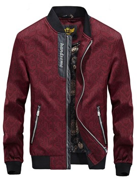 Ericdress Stand Collar Patchwork Men's Jacket