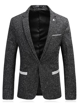 Ericdress Notched Lapel Color Block Men's Casual Blazer
