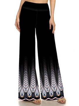 Ericdress high-waist print bellbottoms Hose
