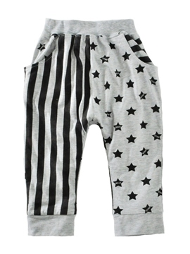 Ericdress Simple Star And Stripe With Pocket Boys Loose Pant