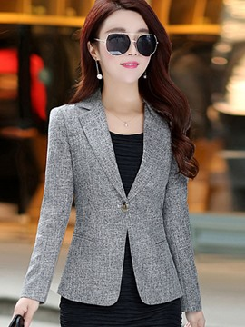 Ericdress Slim One Button Plain Blazer