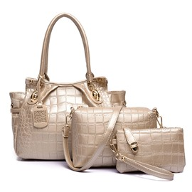 Ericdress Vogue Stone Grain Handbag ( Three Bags Set)