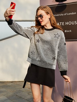 Ericdress Loose Star Print Sweatshirt