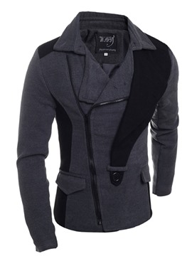 Ericdress Lapel Oblique Zipper Men's Jacket