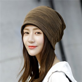 Ericdress Striped Knitting Cap for Women