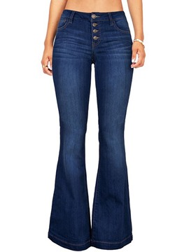 EricdressBellbottoms Pocket Button Jeans