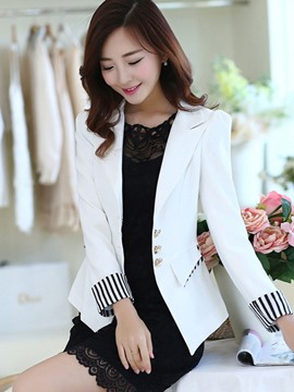 Ericdress Slim Patchwork Single-Breasted Blazer