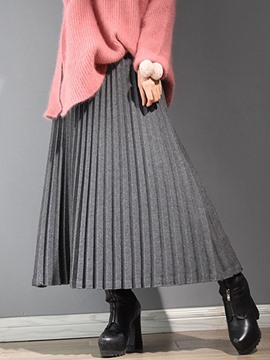 Ericdress Ankle-Length Pleated Usual Skirts
