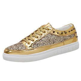 Ericdress Rivet Sequin Plain Men's Skater Shoes