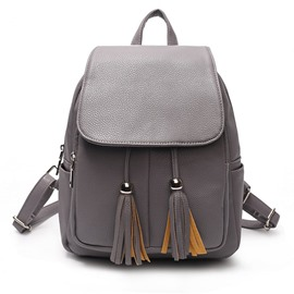 Ericdress Versatile Covered Type Tassel Backpack