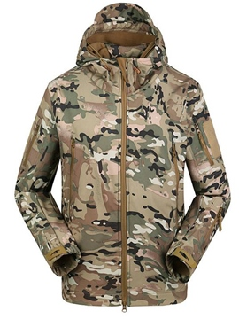 Ericdress Hooded Ccamouflage Print Men's Trench Coat