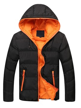 Ericdress Hooded Color Block Men's Down Coat