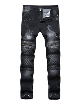 Ericdress Patchwork Slim Men's Denim Pencil Pants