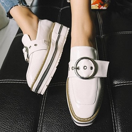 Ericdress Square Toe Platform Plain Women's Sneakers with Buckle