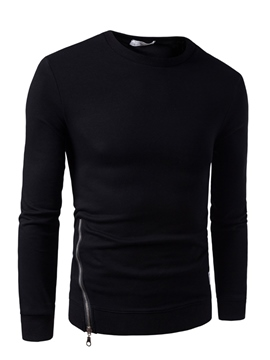 Ericdress Round Neck Long Sleeve Slim Men's Pullover Hoodie