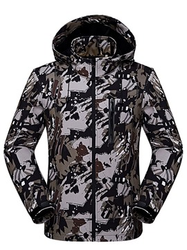 Ericdress Camouflage Print Slim Hooded Men's Jacket