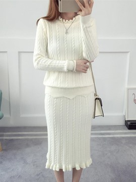 Ericdress Ruffles Long Sleeves Leisure Suits