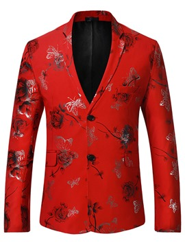 Ericdress england style print slim vogue men's blazer