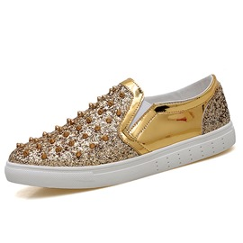 Ericdress Fashionable Rivet Sequin Plain Men's Casual Shoes