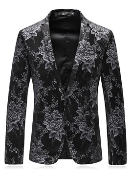 Ericdress Notched Lapel Print Men's Blazer